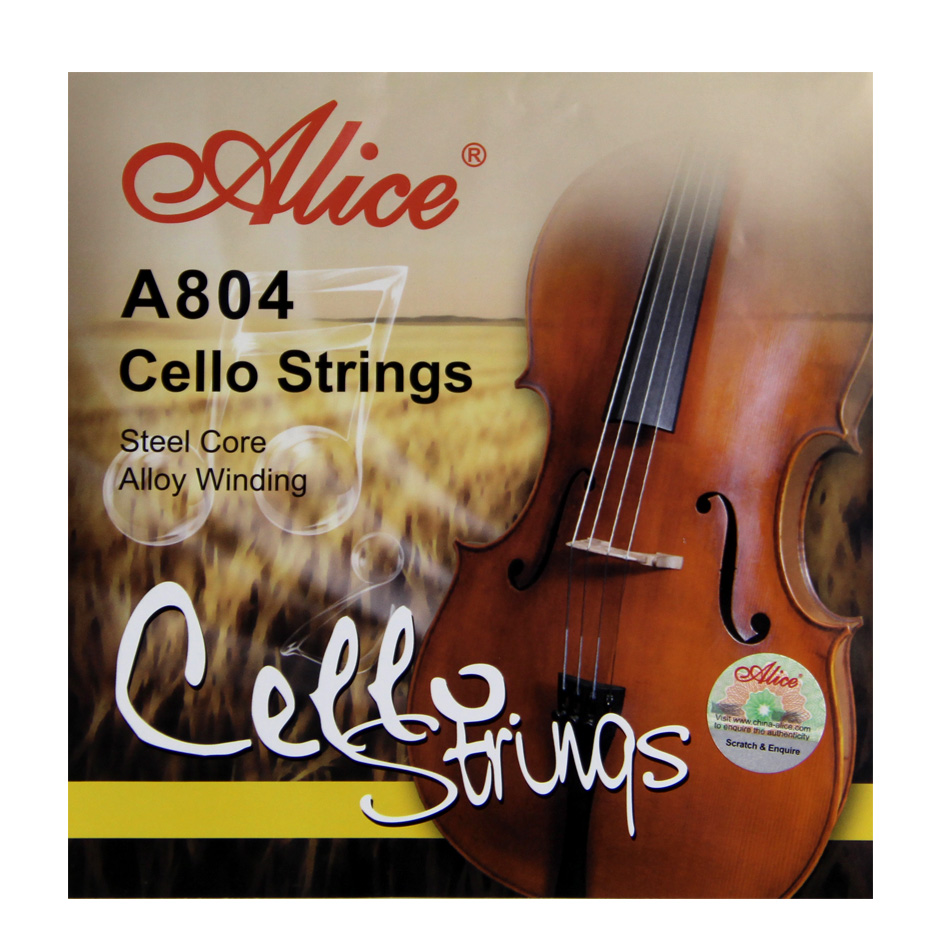 Alice A804 Cello Strings Steel Core  Aluminum Alloy Wound  Nickel-Plated Ball-End