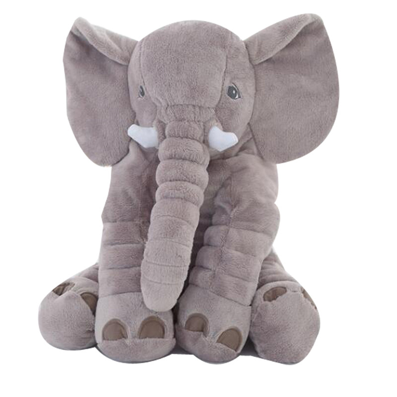 Hot 1pc 40/60cm Infant Plush Elephant Soft Appease Elephant Playmate Calm Doll Baby Toy Elephant Pillow Plush Toys Stuffed Doll