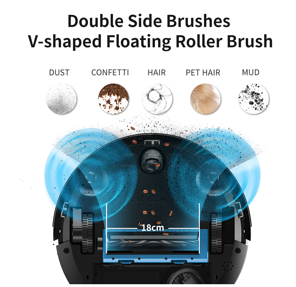 H68502730b7d04d9d8eb5dbec45a0fd895 Proscenic 820P Robot Vacuum Cleaner Smart Planned 1800Pa Suction with wet cleaning for Home Carpet Cleaner Washing Smart Robot