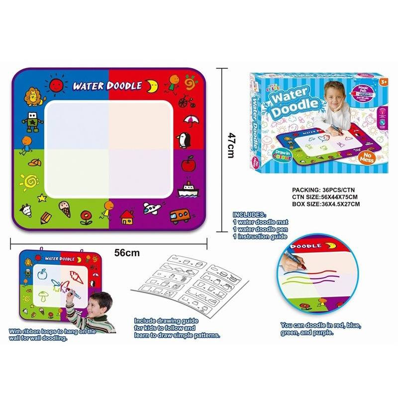 Baby Graffiti Water Canvas Creative Painted Repeated Water Canvas Children Water Write Graffiti Book Magic Draw Pad