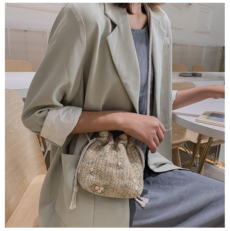 Mini Straw Travel Bag for Female 2021