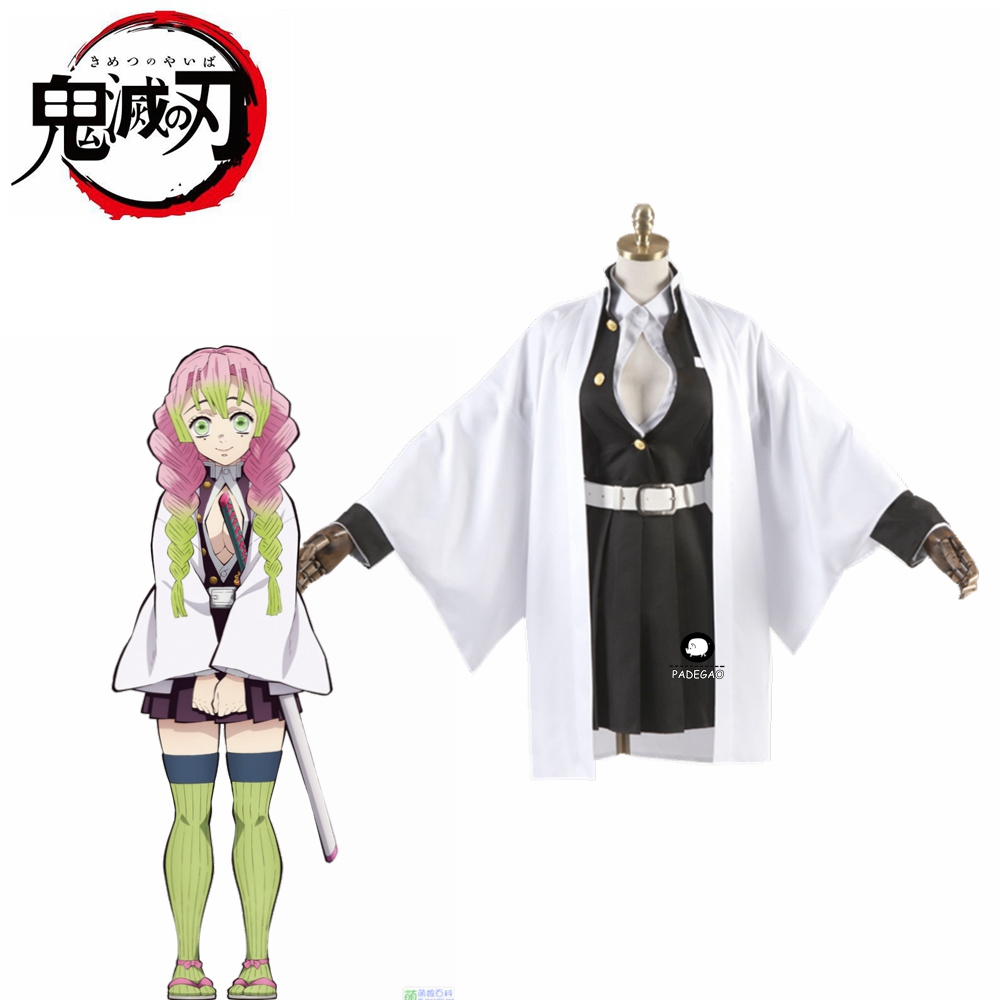 Anime Demon Slayer Kanroji Mitsuri Cosplay Costumes Kimetsu No Yaiba Women Halloween Costumes For Women