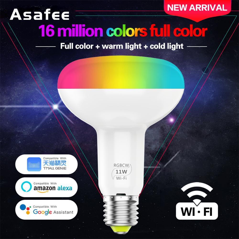 Wifi Light Smart Bulb 11W E27 Led Lamp Dimmable RGB Remote Control Led Light Bulb For Amazon Alexa Google Home IOS Android