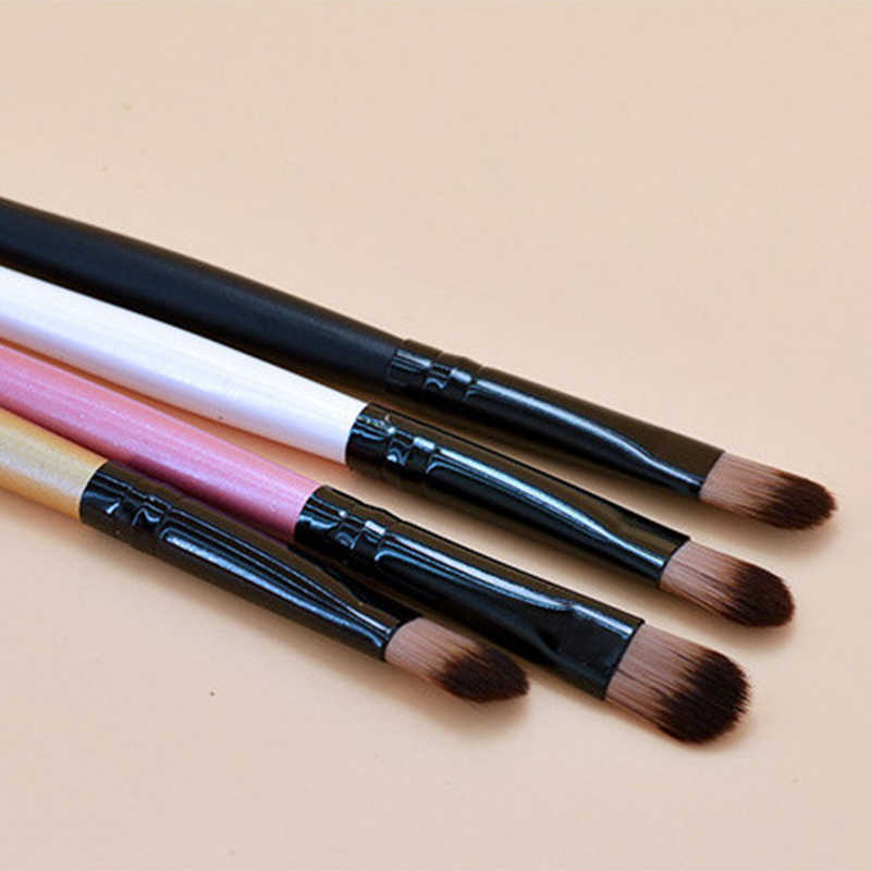 1Pc Oogschaduw Make-Up Borstel Crème Blending Concealer Make Up Houten Handvat Eyeshadow Brush Natuurlijke Zachte Cosmetische Gereedschap Maquiagem