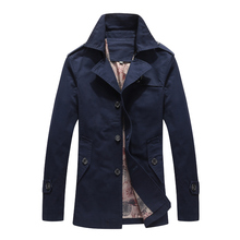 Plus Size 8XL Men Jacket Coat Fashion Trench Coat New Spring Brand Casual Fit Overcoat Jacket Male Winter Windproof Outwears rubilove brand new men s casual trench coat wind breaker fashion designer plus size casual trench for men pull homme outwear