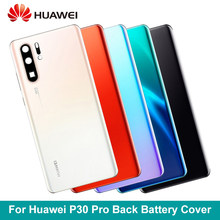 Original For Huawei P30 Pro Battery Cover + Camera Glass Lens For Huawei P30 Pro Back Door Replacement Repair Parts