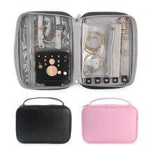 Vrouwen Oorbellen Sieraden Case Grote Capaciteit Ketting Ringen Display Pouch Reizen Draagbare Rits Organizer Bag