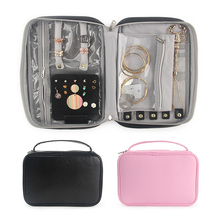 Women Earrings Jewelry Case Large Capacity Necklace Rings Display Pouch Travel Portable Zipper Organizer Bag