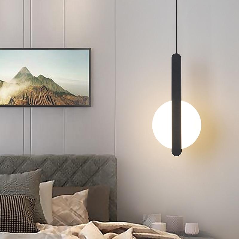 Nordic Bedside Kitchen Led Pendant Light Modern Bedroom Bedside Hanging Lamp LED Lighting Fixture Popular Suspension Lights