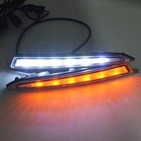 Car Led Daytime Running Light Drl Daylight Led Car for Ford Kuga Escape 2012 2015 with Fog Lamp