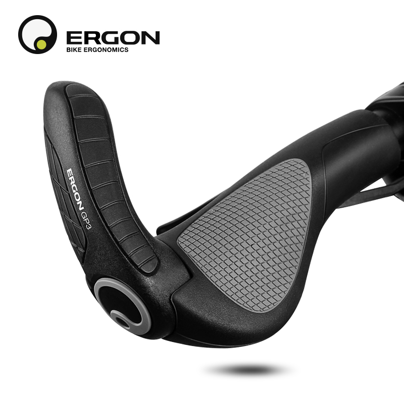 ERGON GP1 GP3 Rubber Bike Handlebar Grips Mountain Bicycle Bar End Mount Clamp Handle Grip Ergonomics MTB Road Cycling Lock Grip