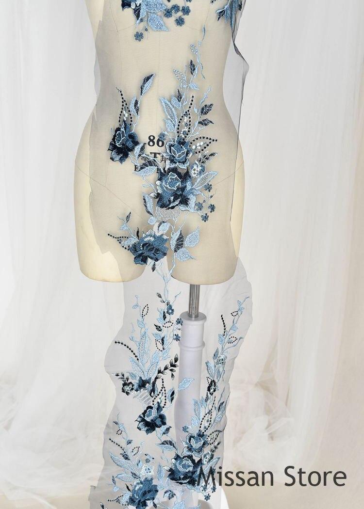 1Pieces  Luxury Lace Wedding Lace Applique Lace Fabric Embroidered  Bone Lace Fabric Wedding Fabric