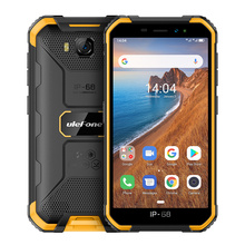 Telefone ulefone armor x6 ip68/ip69k, à prova dágua, celular robusto, 4000mah, quad core, 8mp, android 9.0, desbloqueio por face id, 2gb 16gb 3g versão global
