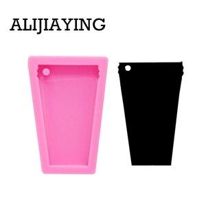 DY0076 DIY брелок-чашка для воды, силиконовая форма для стакана, кольцо для ключей, формы для эпоксидной смолы для ювелирных изделий