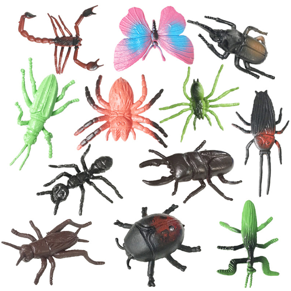 12pcs/set Realistic Insects Figures Lifelike Animal Figurines Toys Educational Learning Toys Birthday Gift Insects Toy Perfect
