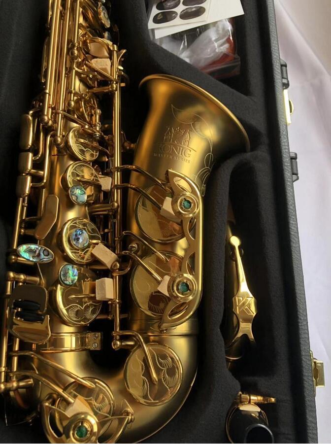 Konig Alto Saxophone Mib Professional Master Aged Series Antique Copper Simulation E Flat Sax Kas-802