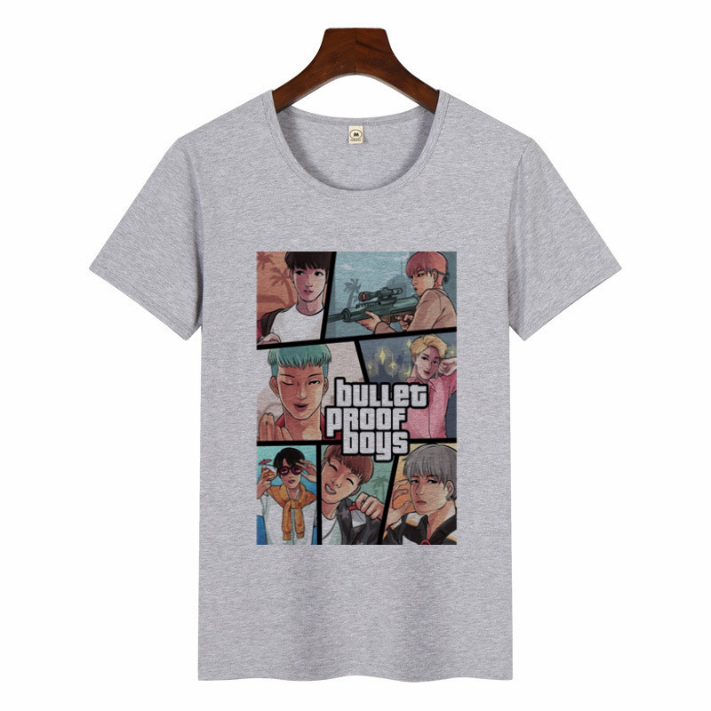 Mulheres SUGA JIMIN Álbum de Impressão T-Shirt