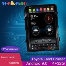Wekeao de pantalla Vertical estilo Tesla 16 Android 9,0 Car Radio navegación GPS para Toyota Land Cruiser coche reproductor de DVD 2008 2015