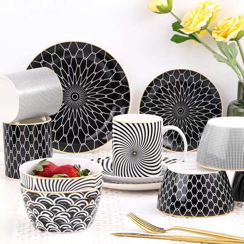 6/8 /10 pouces porcelaine ensemble de vaisselle assiette vaisselle vaisselle ensemble de vaisselle ensemble de couverts ensemble de vaisselle service de dîner