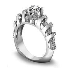 CHUHAN женщины изысканные стерлингового серебра 925 творческий полые трехмерная геометрическая кольцо для свадьба ювелирные изделия