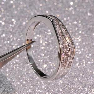 Srebro 925 srebro VS1 diamentowy pierścionek dla kobiet 2 karaty grzywny Topaz srebro 925 biżuteria Bizuteria Anillos kamień znaczek pudełko na pierścionek