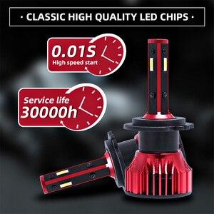 Image 3 - מנורת H1 H7 Led Canbus פנס 100W 10000LM 4 צד 360 תואר HB3 HB4 רכב LED הנורה H4 H3 h11 9005 9006 9007 880 H27 אורות 12V