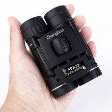 Binoculares con Zoom compacto 40x22 de largo alcance, Mini telescopio plegable HD de 1000m, óptica BAK4 FMC, Deportes de caza, Camping