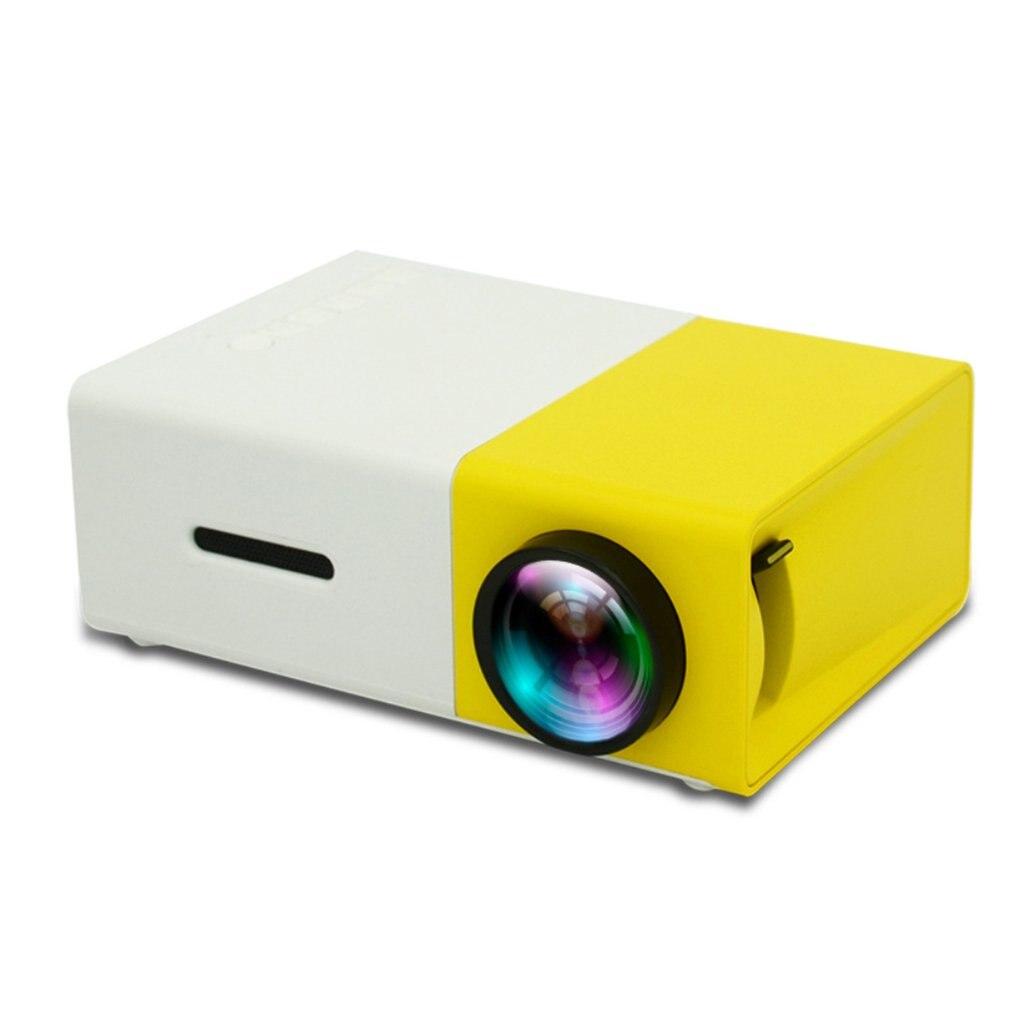 YG300 LED Mini Projector High Resolution Ultra Portable HD 1080P HDMI USB Projector Media Player US EU AU UK Socket Two Colors