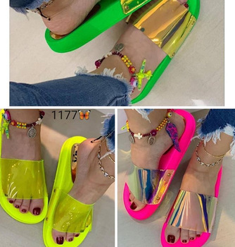 Summer Woman Flat Slippers Candy Color Jelly Shoe Woman Transparent Slides Female Flip Flops Women's Beach Shoes Summer Slippers summer transparent slippers jelly shoes women sandals candy color casual beach slides women comfort ladies female shoes 2020 new