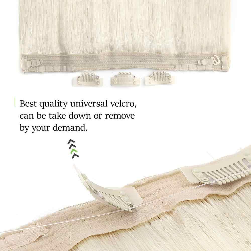 Neitsi düz Halo saç 20 ''100g Remy çift çizilmiş saç görünmez tel tutucu çin'de insan saçı postiş