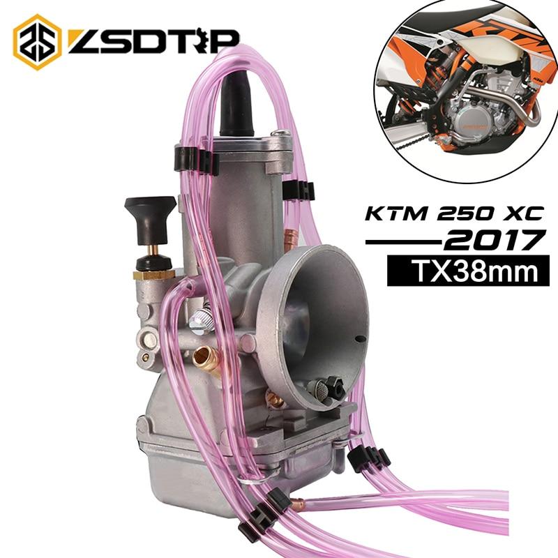 ZSDTRP Motorcycle Mikuni TX38 38mm Carburetor 2 stroke Motorcycle Carburetor For KTM 250 XC 2017 200-350cc Motors
