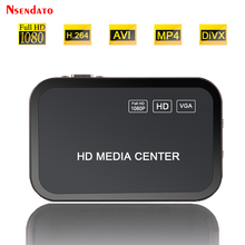1080P HD Media Video player Center Surpport mkv H.264 with VGA HD USB AV MMC/SD Port with Remote Control