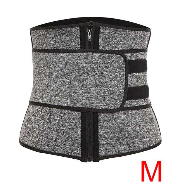 Women Slimming Waist Trainer Cincher Corset Trimmer Belt Workout Sweat Body Shaping Zipper Adjustable Weight Loss Sports