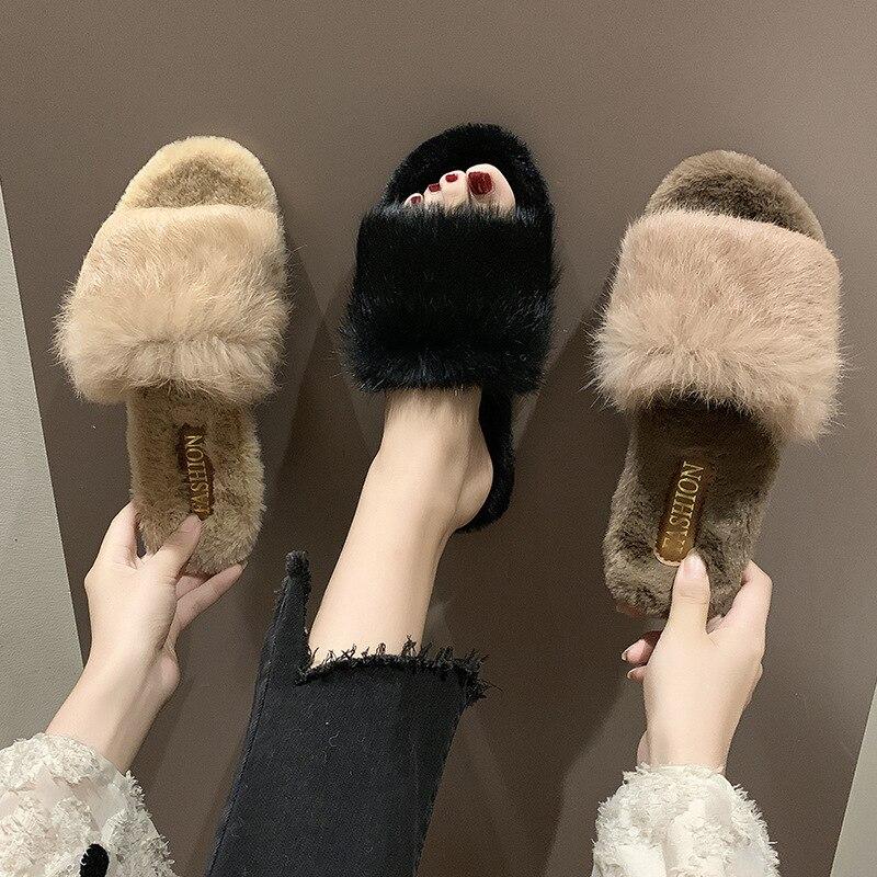 Slipper Women's INS Fashion 2019 Korean-style New Style Autumn Outer Wear Social Shoe Versitile Fashion Pregnant Women Nursing S