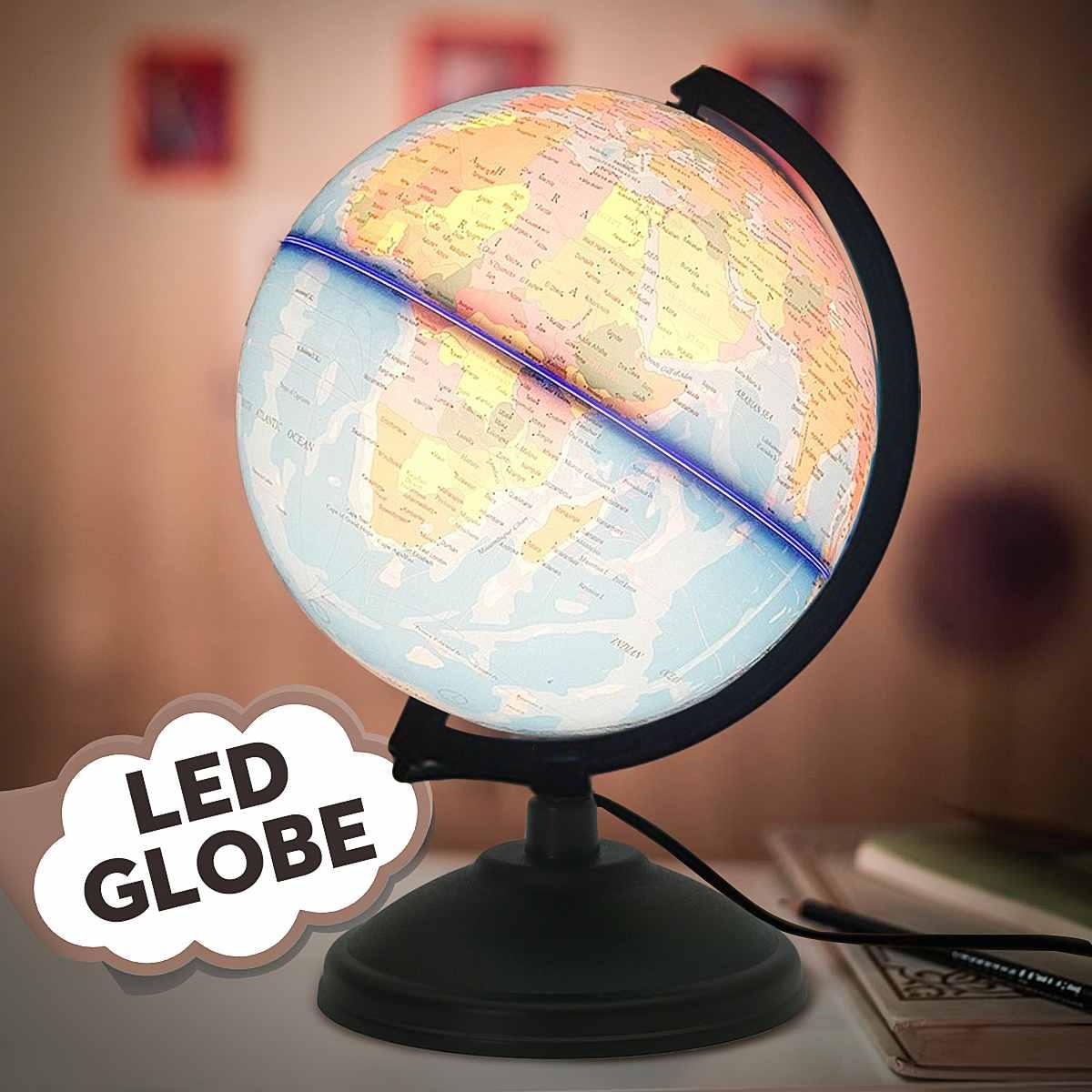 LED World Map Globe Home Electronic Lamp Novelty Ball Light Birthday Decoration Gift For Kids Children