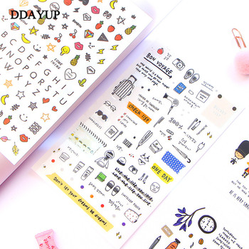 European Style Travel Diary Paper Sticker Decoration Planner Scrapbooking Label Kawaii Korean Gifts Stationary Stickers - discount item  8% OFF Stationery Sticker
