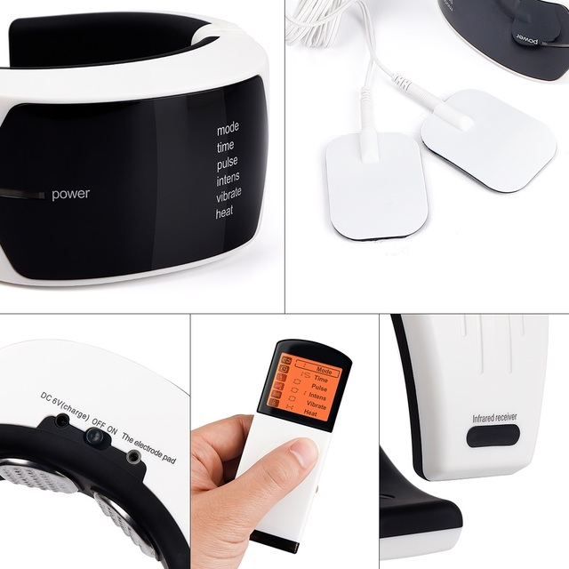 Wireless Remote Control Neck Electric Pulse Massager Cervical Physiotherapeutic Tool Body Relaxation Pain Relief Equipment 2