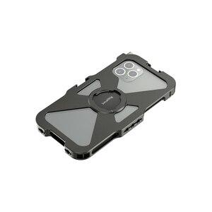 Image 2 - SmallRig Pro נייד כלוב עבור iPhone 11 פרו Vlogging אבזר טלפון נייד כלוב עם קר נעל הר Vlog ערכת ירי 2471