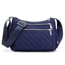 النساء النايلون حقائب كتف حقيبة يد السيدات الأفاق حمل Crossbody حقيبة محفظة متعددة الوظائف متعددة طبقة أعلى مقبض حقيبة ساع