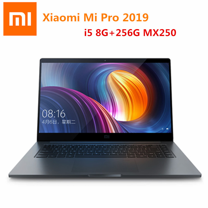 Xiaomi Mi Pro 2019 Laptop 15.6 inch Windows 10 CN Language Home Edition i5 - 8250U 8GB RAM 256GB SSD Fingerprint Sensor Laptop image