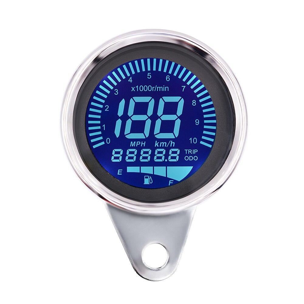Practical LCD Display Motorcycle Meter Dustproof Cool Digital Univeral Backlit