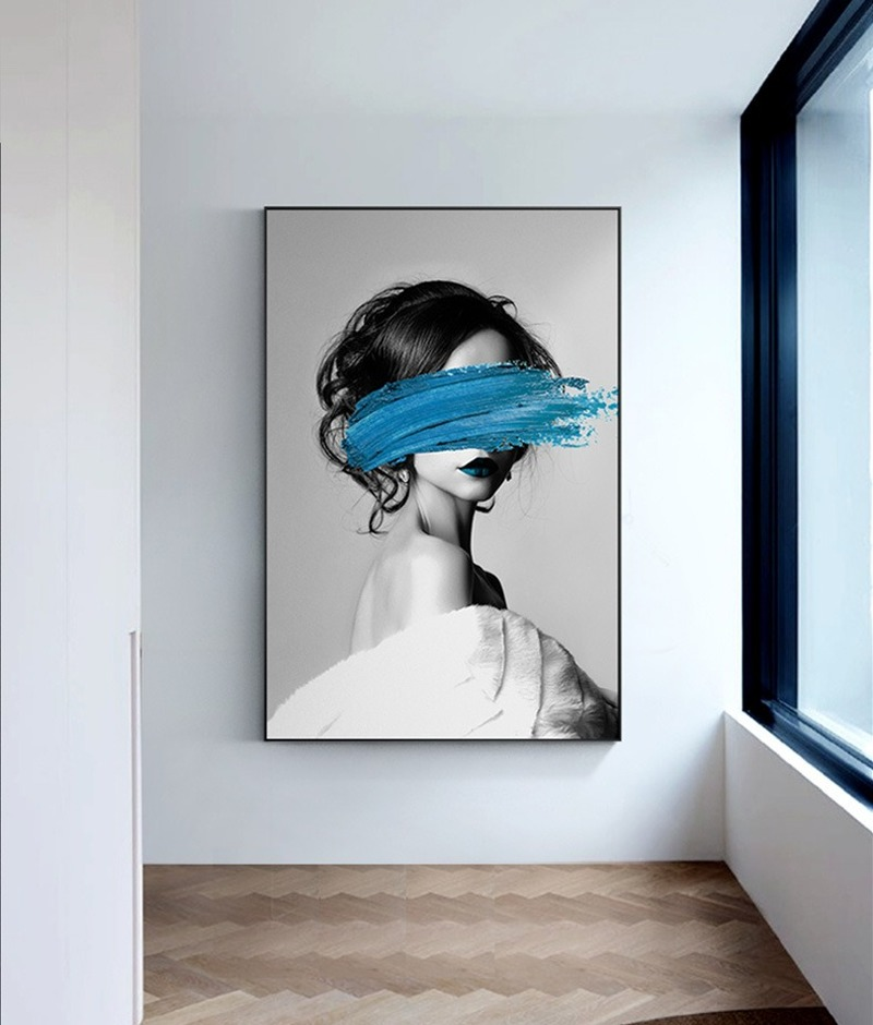 Canvas Wall Art for living room Painting by numbers Abstract HD Home Wall Decoration Paintings Woman oil Painting by numbers