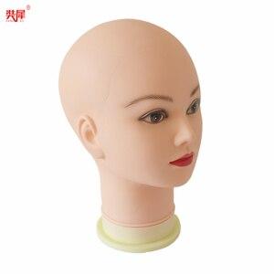 Image 4 - מאוד רך קירח ראש פאה Stand עבור כובע זכוכית תצוגת פאת פאה ביצוע תסרוקת אימון עיסוי Mannequin ראש פאת ראש stand
