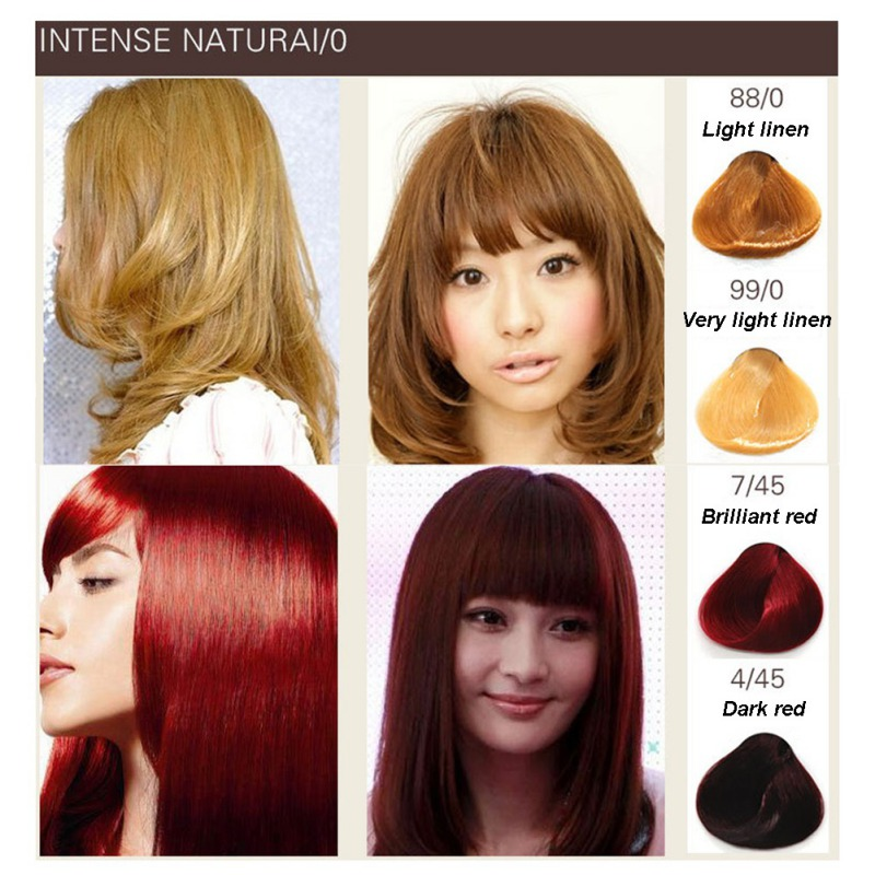 Wholesale Color Dye Paint No Odor Hair Color Cream Hair Tint Colorant Semi Permanent Long Lasing No Irritation Hair Cream