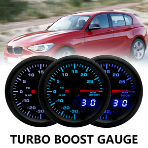 """Image 1 - 2"""" 52mm 7 Color LED Smoke Face Car Auto Bar Turbo Boost Gauge Meter with Sensor and Holder AD GA52BOOSTBAR"""