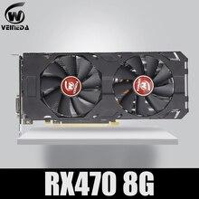 100% оригинальная новая видеокарта Veineda RX 470 8 Гб 570 бит GDDR5 DP HDMI DVI для AMD, видеокарта совместимая rx 8 Гб