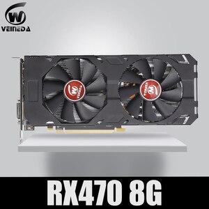 Image 1 - Veineda Video Card 100% Original new RX 470 8GB 256Bit GDDR5 DP HDMI DVI for AMD Graphics Card Compatible rx 570 8gb