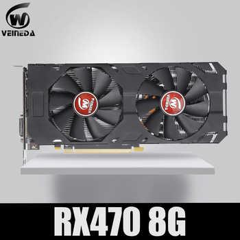 Veineda Video Card 100% Original new RX 470 8GB 256Bit GDDR5 DP HDMI DVI for AMD Graphics Card Compatible rx 570 8gb - DISCOUNT ITEM  18 OFF Computer & Office