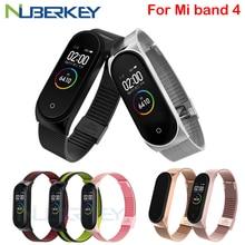 Bracelet à boucle milanaise Bracelet pour Xiaomi Mi Band 4 3 MiBand 3 4 Bracelet en métal Bracelet en acier inoxydable Bracelet