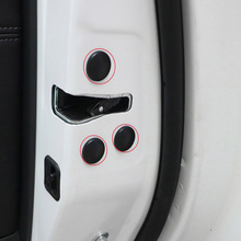 Car Door Lock Check Screw Protect Cover Trim Black White Stickers Waterproof Car Styling For Volkswagen VW Tiguan MK2 2018 2019 цена и фото